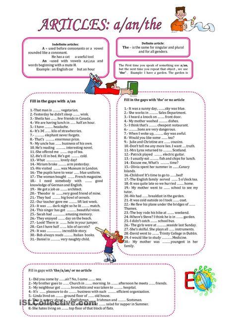 Articles;a,an, The  English Grammar  Pinterest  English Grammar, Worksheets And English