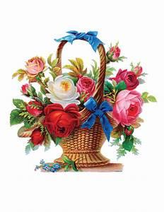 Basket Of Flowers Clip Art - ClipArt Best