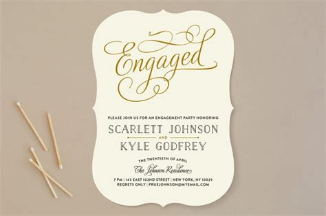 word engagement party invitations  examples