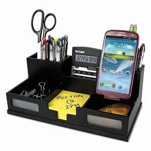 Midnight, Black, Desk, Organizer, With, Smartphone, Holder, 10, 1, 2, X, 5, 1, 2, X, 4, Wood