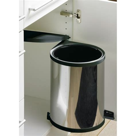 poubelle de porte cuisine poubelle de porte automatique en inox 1 seau de 13 litres wesco bricozor