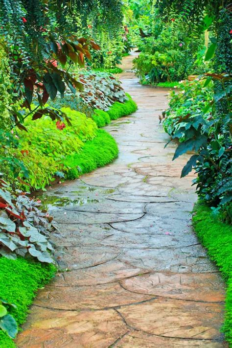 Backyard Path by 35 Garden Paths That Take In The Journey
