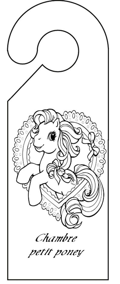 pancarte chambre pancarte de porte chambre petit poney découpage a imprimer