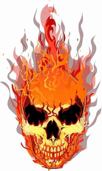 Skull Fire Flame Transparent Flames Clipart Hq