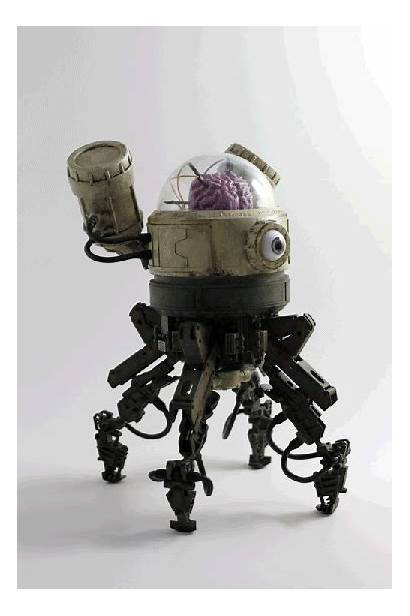 Toys Robot Concept Cool Futuristic Skullbrain Character