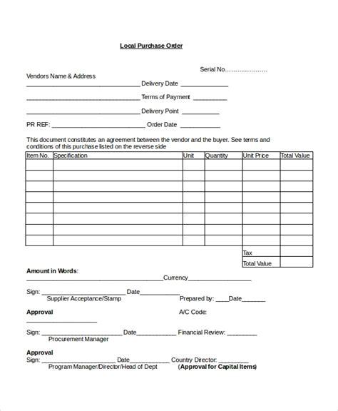 purchase order templates docs word  premium