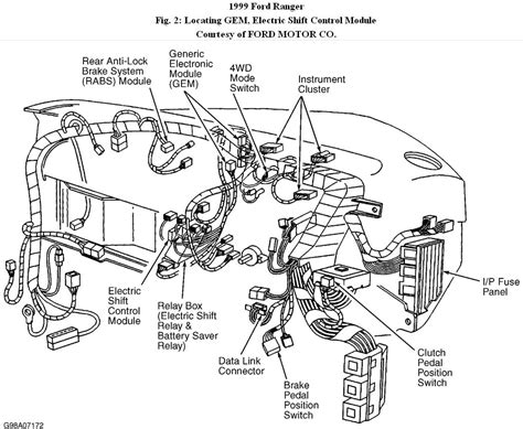 1998 Ford Ranger 4x4 Diagram by Ranger 4 Wheel Drive I A 99 Ranger With The