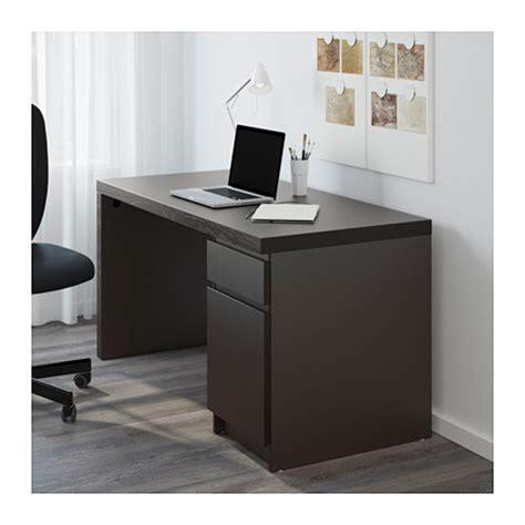bureau ikea malm malm desk black brown ikea