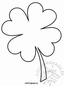 four leaf clover template coloring page With clover templates flowers