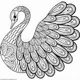 Zentangle Coloring Pages Animal Printable Swan Easy Adult Zentangles Getcoloringpages Books Mandala Zen Adults Colorare Da Drawings Birds Drawing Doodle sketch template