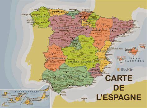 Carte D Espagne Avec Villes by Carte Espagne 187 Vacances Arts Guides Voyages
