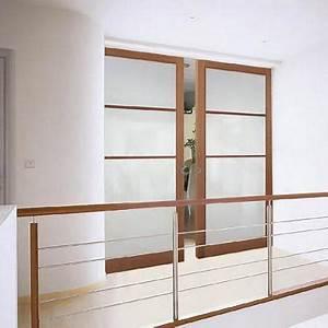 porte interieur infos et conseils sur la porte interieur With porte coulissante en bois et verre