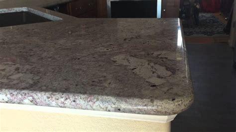 sensa granite  blanco gabrielle installed  lowes