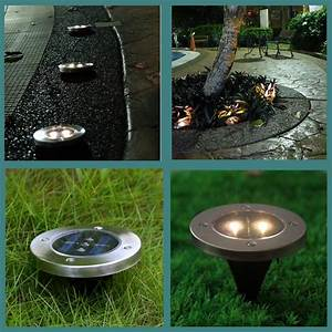 Pack of 5 Stainless Steel Waterproof Solar Powered LED ...