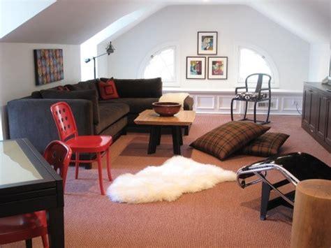 attic transformed  cozy kids hangout room similar