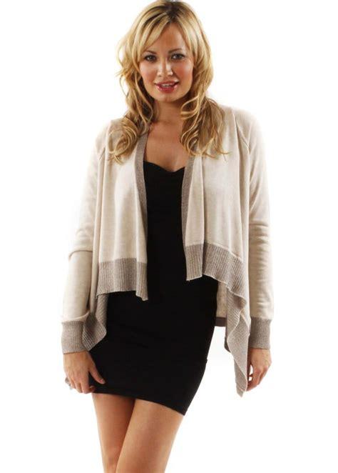 knit draped cardigan tropez beige lurex cardigan tropez knitwear