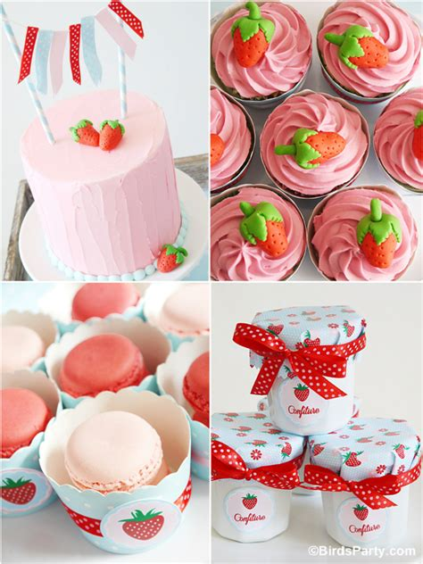 Summer Party Ideas  Strawberry Desserts Table Party