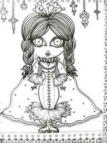 Scary Halloween Books For Adults by Vampire Vixens Coloring Book Page Goth Gothic Halloween