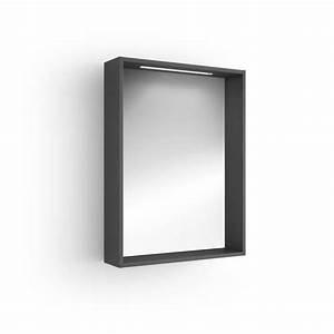 miroir lumineux salle de bain 60x80 cm With meuble miroir salle de bain lumineux