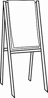 Easel Flipchart Clipart Clip Svg Chart Flip Drawing Google Cliparts Transparent Vector Short Painting Commons Wikimedia Clker Library Vocabulary Coloring sketch template