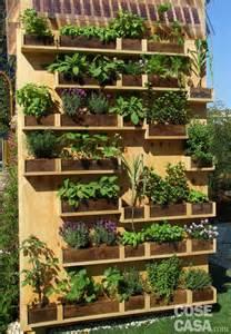 Una parete di aromatiche in balcone cose casa