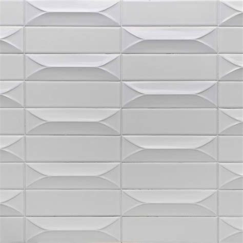 byzantine bianco  ceramic subway tile decorist