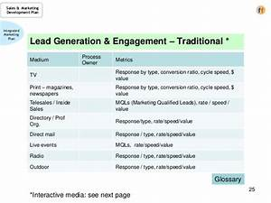 sales marketing development plan a template for the cro With lead generation plan template