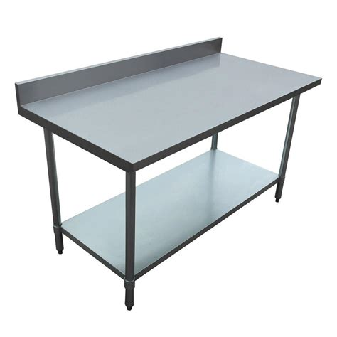 Excalibur Stainless Steel Kitchen Utility Table With
