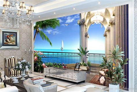 hd sea view picture painting 3d tv background wall mural 3d wallpaper 3d wall papers for tv