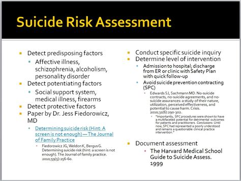 suicide risk assessment scale