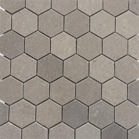 """Shop For Lady Gray 2"""" Hexagon Honed Marble Tile at TileBar.com"""