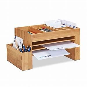 Schreibtisch Organizer Basteln : relaxdays schreibtisch organizer bambus ablagesystem f b ro aufbewahrungsbox briefablage ~ Eleganceandgraceweddings.com Haus und Dekorationen
