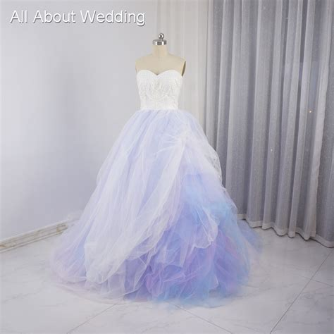 blue and purple wedding dress colored wedding dresses purple pink blue tulle