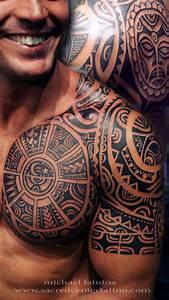 Mens Tribal Chest Tattoo   Chest Tattoos For Men ...