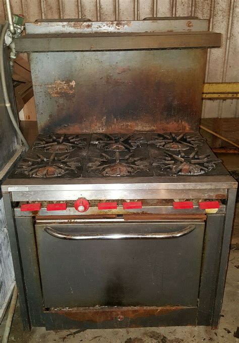 vulcan commercial restaurant kitchen   burner stove