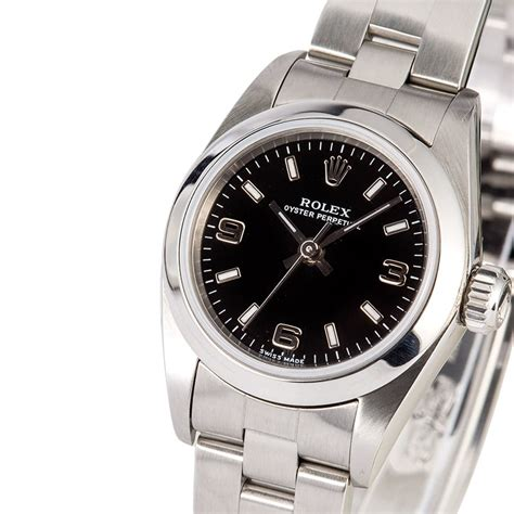 Rolex Ladies Oyster Perpetual 76080 Black