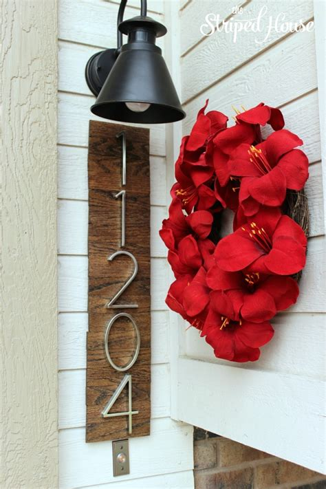 creative  eye catching diy house number ideas