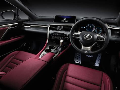 lexus rx red interior lexus to unveil three row rx suv soon zigwheels