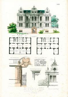 plan maison 4 chambres 騁age 1854 maison moderne de ville plans d 39 architecte format a3 gravure ancienne esquisse dessin plan détails architecturaux maison maison de
