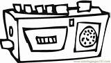 Radio Coloring Appliances Printable Technology Coloringpages101 sketch template