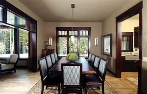 dark wood trim dining room contemporary with dark stained With dining room paint colors dark wood trim