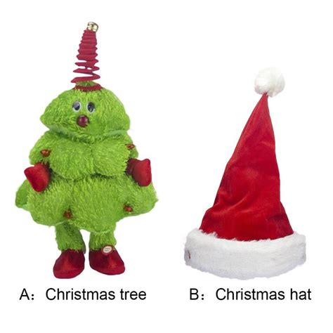 dancing christmas tree hat singing and tree moving toys hat electric children s toys