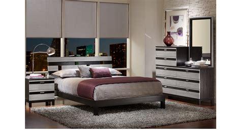 gardenia silver  pc queen platform bedroom contemporary