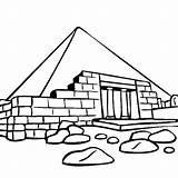 Coloring Ruins Pyramid Giza Egyptian Egypt Coloringsky sketch template