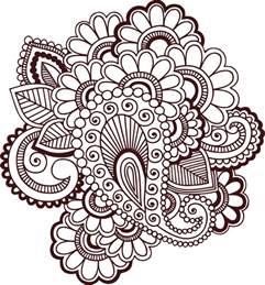 fingernã gel design vorlagen clipart henna