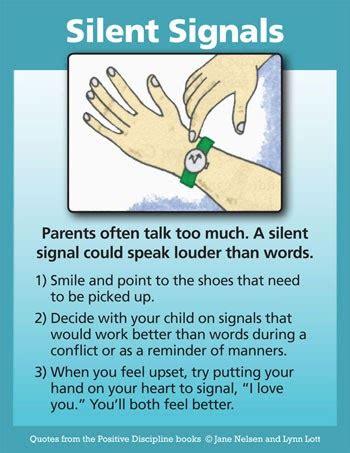 positive discipline silent signals