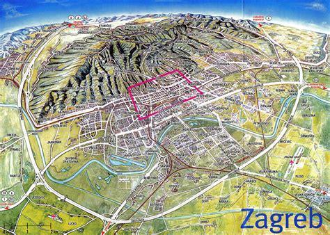 zagreb croatia city  destination  map town