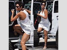 Nicole Murphy in a summer white dress out in Beverly Hills