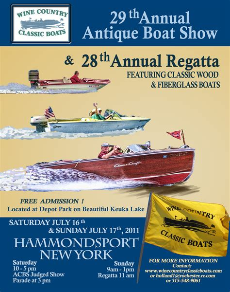 Hammondsport Ny Antique Boat Show by Boat Show Posters