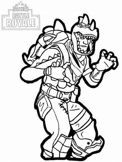 Rex Fortnite Coloriage Battle Royale Enfants Dessin